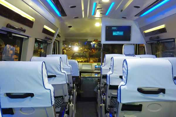 Interior of Tempo Traveller